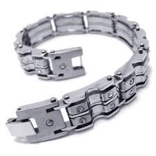 mens bracelet titanium images Mens boys silver charm pure titanium bracelet bangle 15333 105 jpg