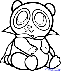 halloween color background coloring pages draw a cartoon panda coloring page