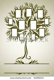 vector family tree design frames autumn stock vector 61956334