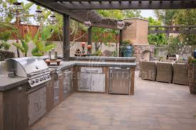 Outdoor Barbecue Kitchen Designs Stucco Finish Bbq Islands Outdoor Kitchens Gallery Western For