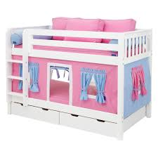 Blue Twin Bed by Perfect Children Girls Twin Bunk Bed With Pink And Blue Tent Plus