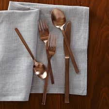 Design For Copper Flatware Ideas Beyond The Silver Spoon Flatware Trends For The Modern Table