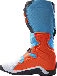 mens mx boots fox racing new 2017 mx comp 8 dirt bike blue aqua orange