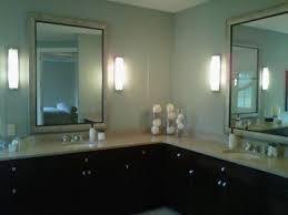 L Shaped Bathroom Vanity by Lighting Ideas Bathroom Sconces Justice Design Lighting With Two