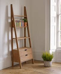 statuette of outstanding storage ideas with a ladder shelving unit