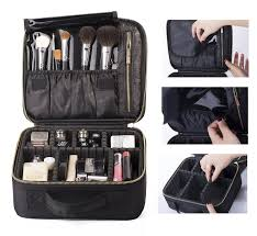 rownyeon mini makeup train case with portable eva and freely