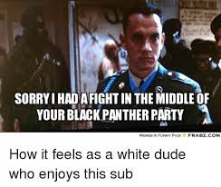 Funny Panthers Memes - sorryihadafightin the middle of your black panther party a memes