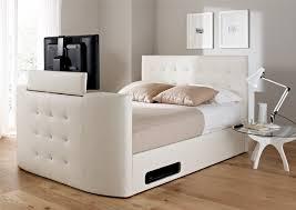 Tv Storage Bed Frame Atlantis Leather Ottoman Tv Bed White Ottoman Beds Storage