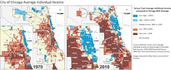 City Of Chicago Map by A Deepening Divide Income Inequality Grows Spatially In Chicago