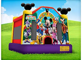 mickey mouse clubhouse bounce house mickey mouse moonwalk houston sky high party rentals