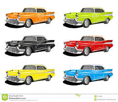 classic cars clip art colorful classic cars stock illustration image of hybrid 3178006