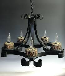 Black Iron Chandeliers Non Electric Candle Chandelier Eimat Co