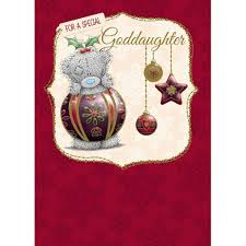 goddaughter christmas ornaments goddaughter me to you christmas card 1 79 tatty teddy