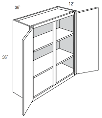 what is the depth of wall cabinets w3636 branford recessed wall cabinet doors