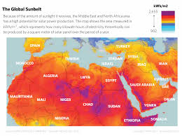 Middle East Countries Map by A Bright Future For Solar Power In The Middle East
