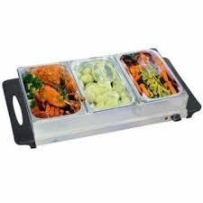 firenzzi 3 tray stainless steel buffet server food warmer fw330