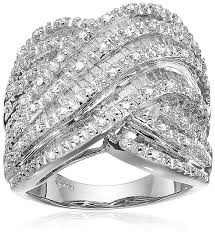 silver diamond rings sterling silver diamond ring 1 cttw i j color i2 i3