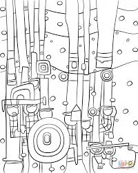 blue blues by friedensreich hundertwasser painting coloring page