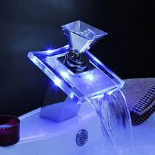 Led Bathroom Faucets Interior Stunning Images Of Waterfall Bathroom Sink Faucets For