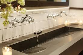 Bathroom Sink Makeover - remodeling a trough bathroom sink with two faucets free designs
