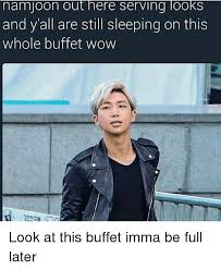 Serving Memes - nam joon out here serving looks and y all are still sleeping on