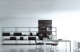 minimalist office interior design of italian furniture company