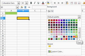 how do i determine what color a calc cell is ask libreoffice