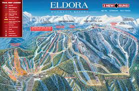Italy Mountains Map by Eldora Mountain Resort Trail Map