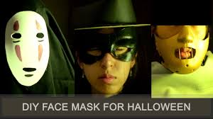 easy and fast diy face mask for halloween youtube