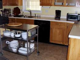 Kitchen Island With Posts Kitchen Utility Cart On Wheels Unbelievable Best Rolling Ideas