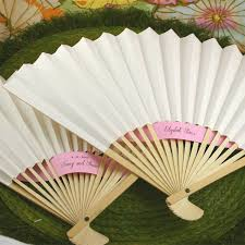 white paper fans paper wedding fans