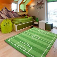 Kid Area Rug Classroom Carpet Idea Simulation Soccer Field Living Room