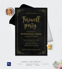 6 free farewell card templates invitation graduation free