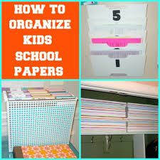Organizing Clutter by How To Organize Kids Papers Semi Domesticated Mama