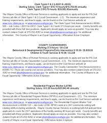 Resume For Cna Job by Employment Opportunities Waynecountypa Gov
