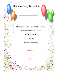 invitation for birthday party sample stephenanuno com