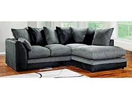 Dylan Byron Corner Group Sofa Black And Charcoal Right Or Left - Dylan sofa