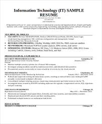 Information Security Resume Template 27 Basic Work Resume Templates Free U0026 Premium Templates