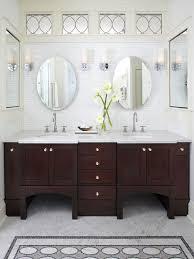 Bathroom With Wood Floor Dark Espresso Double Vanity Mirrors Dark - Dark wood bathroom cabinets