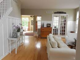 country living room with board and batten u0026 french doors in howell