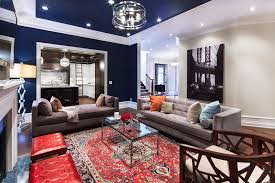 Red Oriental Rug Living Room Toronto Modern Red Sofa Living Room Contemporary With Silver Floor