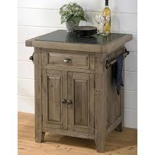 jofran 941 86 slater mill pine small kitchen island with granite