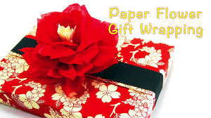 chic gift wrapping with beautiful paper flower video dailymotion
