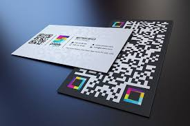 Business Card With Qr Code Qr Code Business Card Business Card Templates Creative Market