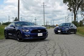 subaru stock turbo 2015 ford mustang ecoboost vs subaru wrx autoguide com news