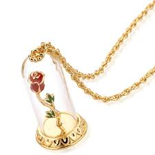 disney couture beauty u0026 the beast gold plated enchanted rose in