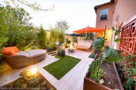 cozy backyard raised container vegetable garden modern