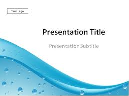 Water Powerpoint Templates by Water Drops Abstract Background Powerpoint Template
