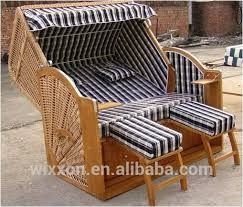 Beach Basket Roofed Wooden Beach Seat Beach House Beach Basket Chair Wicker