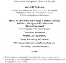 Restaurant Manager Resume Template 7 Best Restaurant Manager Resume